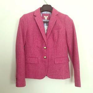 J. Crew NWT Pink Herringbone Blazer Size 2